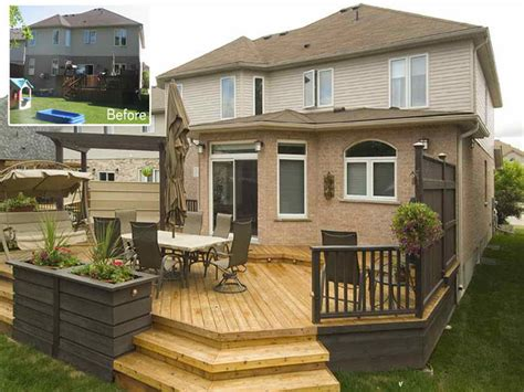 deck in the backyard bloombety cheap backyard deck ideas before cheap