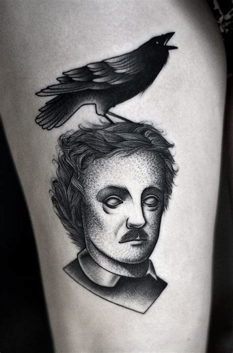edgar allan poe tattoo 10 hauntingly beautiful edgar allan poe tattoos