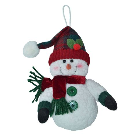 trim a home 174 fabric snowman with santa hat christmas