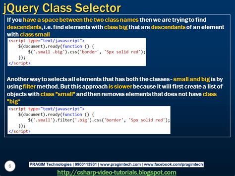 tutorial c classes sql server net and c video tutorial jquery class selector