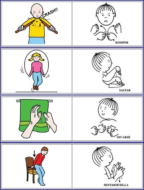imagenes en ingles de acciones acciones en lse 2 lengua de signos espa 241 ola