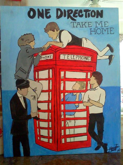 one direction painting one direction pop painting by kisswithafist17 on