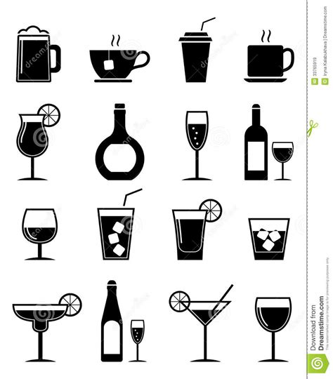 cocktail icon vector drink icons set royalty free stock images image 33765919