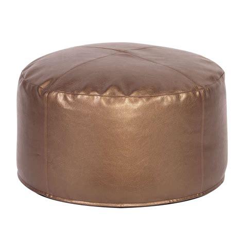 ottoman poof foot pouf shimmer bronze howard elliott