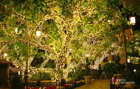 tree wrapping and tree lighting mobile illumination