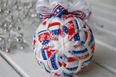 christmas in july ornament patriotic ornament red
