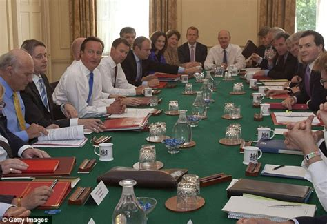 The Prime Minister And Cabinet by David Cameron Prime Minister Welcomes His New Cabinet To