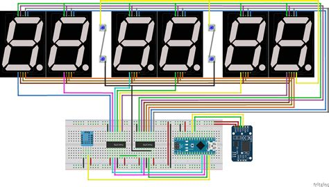 Pcb Lubang Ic Pcb Dotmatrix Dot Matrix Bolong 9x15 Cm 15x9cm 9x15cm diy big 6 digit led clock arduino rtc ds3231 dicky b mz