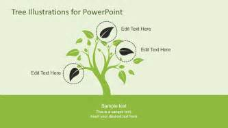 tree template powerpoint tree illustration diagrams for powerpoint slidemodel
