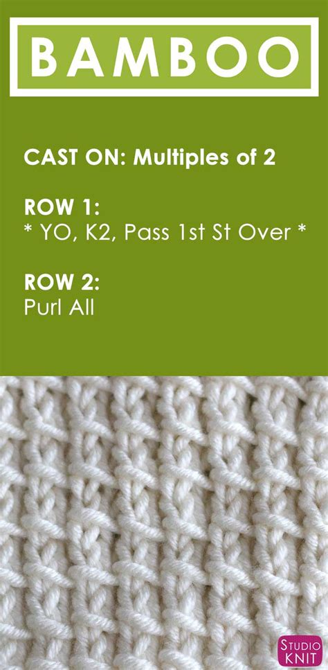how to knit pdf how to knit the bamboo stitch pattern with tutorial