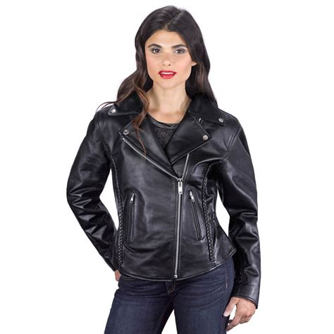 ladies motorcycle leathers viking cycle cruise motorcycle jacket for women