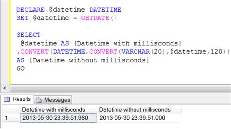format date getdate javascript sql server multiple ways to remove milliseconds from