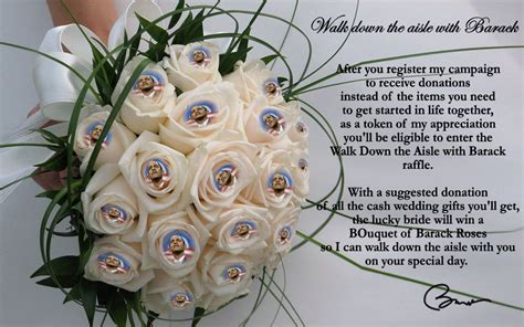 Wedding Walking The Aisle Quotes by Quot Walk The Aisle With Barack Quot Contest