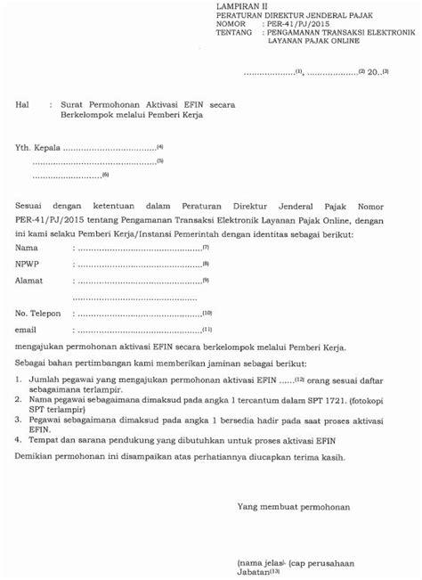 pembuatan faktur pajak terbaru contoh surat kuasa pembuatan efin pajak badan