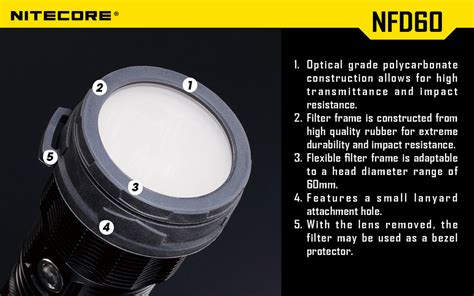 Promo Nitecore Beam Filter For Flashlights 25mm Nfd25 Black G5036 Kere colour filters 60mm nfg60 nfr60 nfb60 nfd60 r230 each