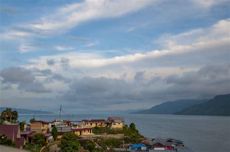 Morning Danau Toba elevation of tiga raja girsang sipangan bolon sub