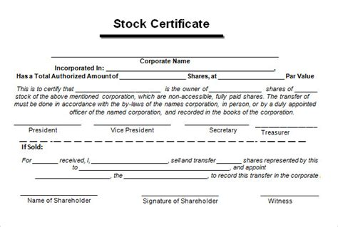 training certificate template free download stock certificate template 4 free download for pdf word