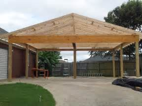 gabled roof carport day3 rl fence decks