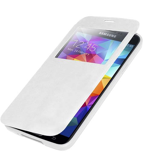 Flip Cover S5 edge s view flip cover for samsung galaxy s5 white plain back covers at low