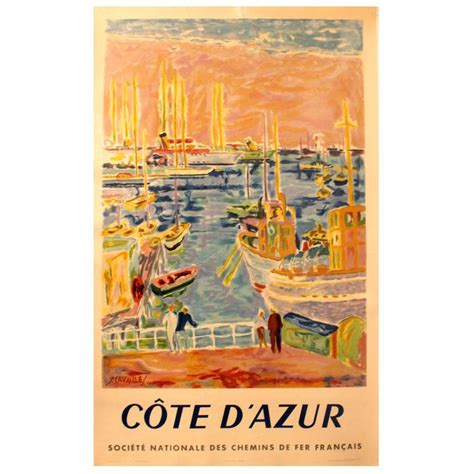 cannes riviera vintage travel poster original vintage travel advertising poster for the cote d