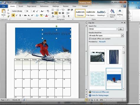 how to make a calendar with pictures how to make a calendar using microsoft word 2010