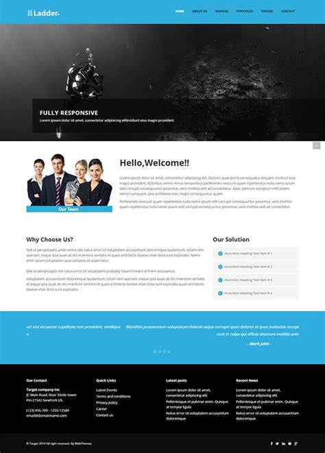 bootstrap templates for profile page 26 best free bootstrap html5 website templates february