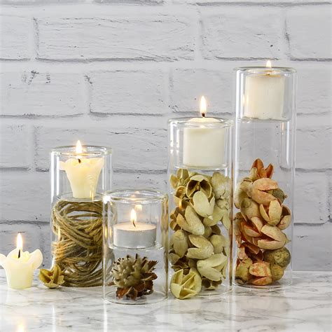 Cylinder Candle Holders by Cylinder Glass Tealight Candle Holders For Wedding