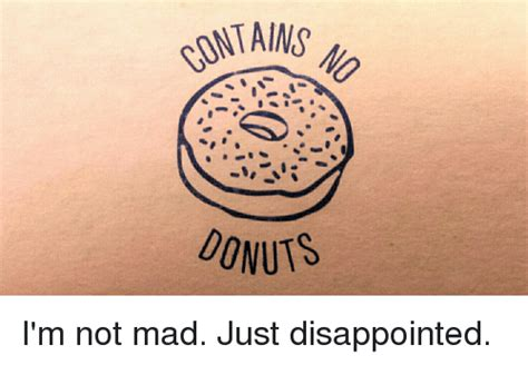 donuts i m not mad just disappointed funny meme on sizzle