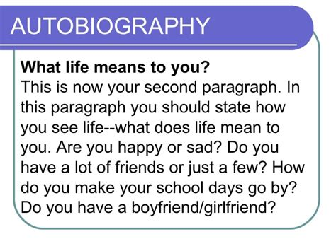 what does biography and autobiography mean autobiography