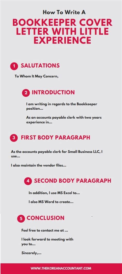 cover letter for bookkeeper position with no experience the korean accountant the diy accountant