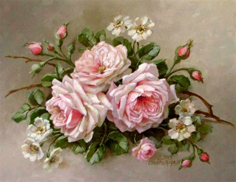 Decoupage Roses - on vintage roses pink roses and