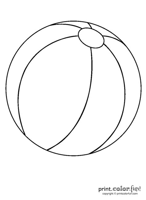 free coloring pages of a ball