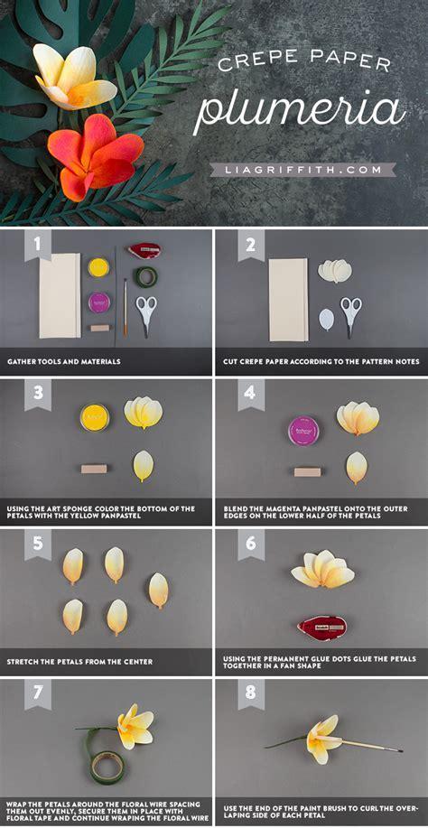 DIY Crepe Paper Plumeria Video Tutorial