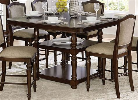 homelegance marston counter height dining table