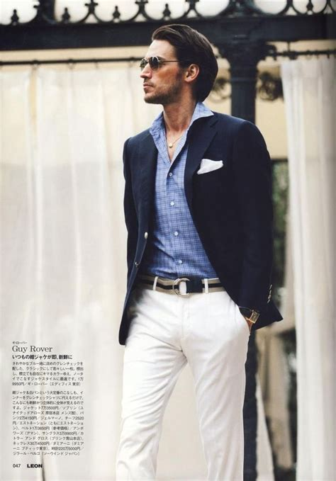 20015 White Navy Style mens summer fashion blue blazer white rover in s fashion mens