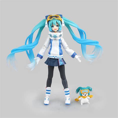 Kaos Anime Miku 01 anime hatsune miku snow miku figure 14cm japanese vocaloid