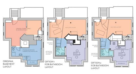 basement design layouts our basement part 7 bathroom layout stately kitsch