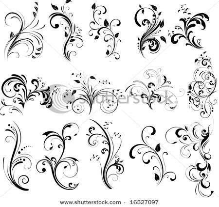 flower swirl tattoo designs flower images designs