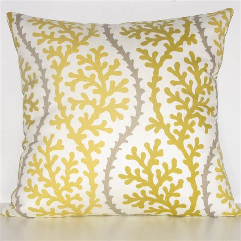 yellow decorative bed pillows reserved yellow coral pillow decorative pillow by