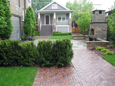 brick wall front yard or suburban landscaping projects in the multi use