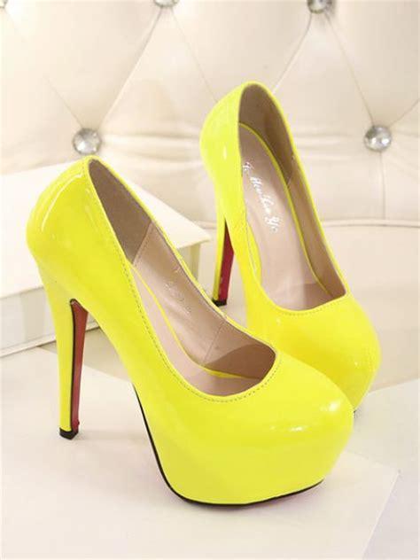 yellow high heels shoes neon yellow high heels shoes on luulla