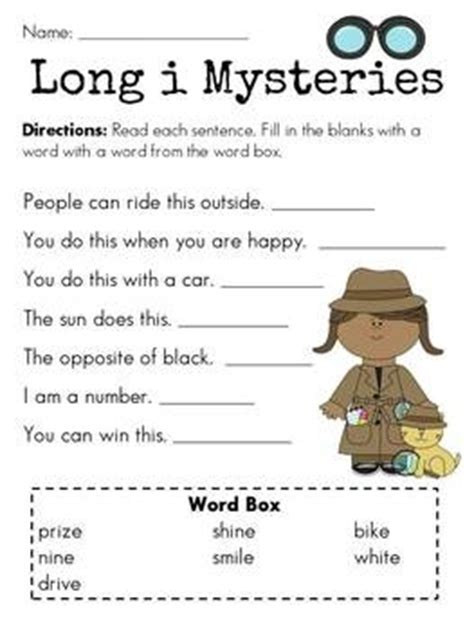 I E Worksheets by I Mysteries For I E Sound One Of Many Worksheets In