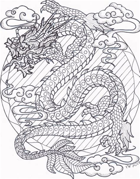 abstract dragon coloring pages coloring page zentangle chinese dragon digital coloring
