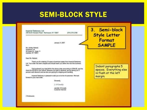 Business Complaint Letter Block Style how to write a business formal letter