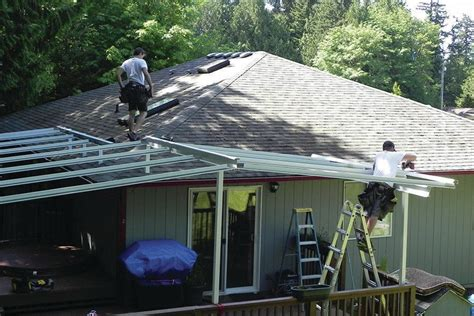 Installing a Patio Cover   Professional Deck Builder