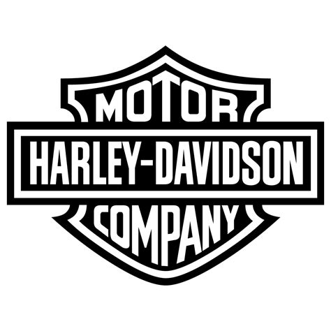 eps format transparent harley davidson motor cycles logo vector black transparent