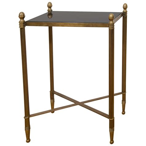 drink table midcentury small bronze rectangular side or drink table at