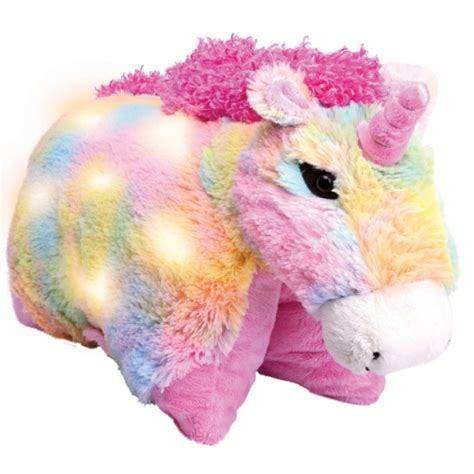Rainbow Unicorn Pillow Pet by Glow Pets Glow Pup Lites Pillow Pets