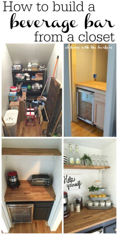 how to build a beverage bar from a closet info you