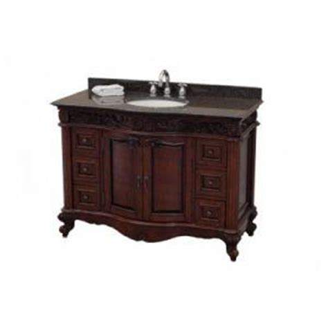 Pegasus Bathroom Vanity Pegasus Estates Mahogany Naples Cinnamon Vanity At Home Depot Vanities Bathroom Furniture